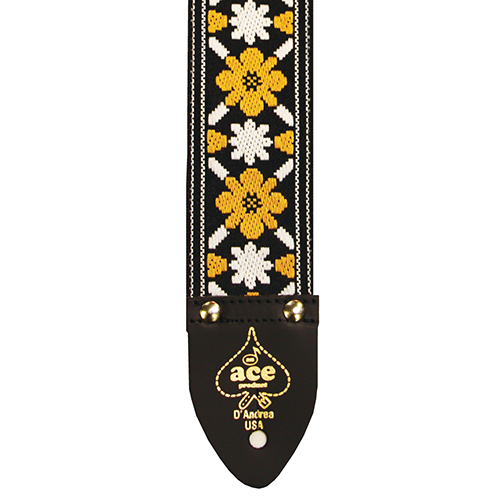 """D/'Andrea Reissue ACE 13 Summer of 69/' Jacquard Weave 2/"""" wide Guitar Strap"""